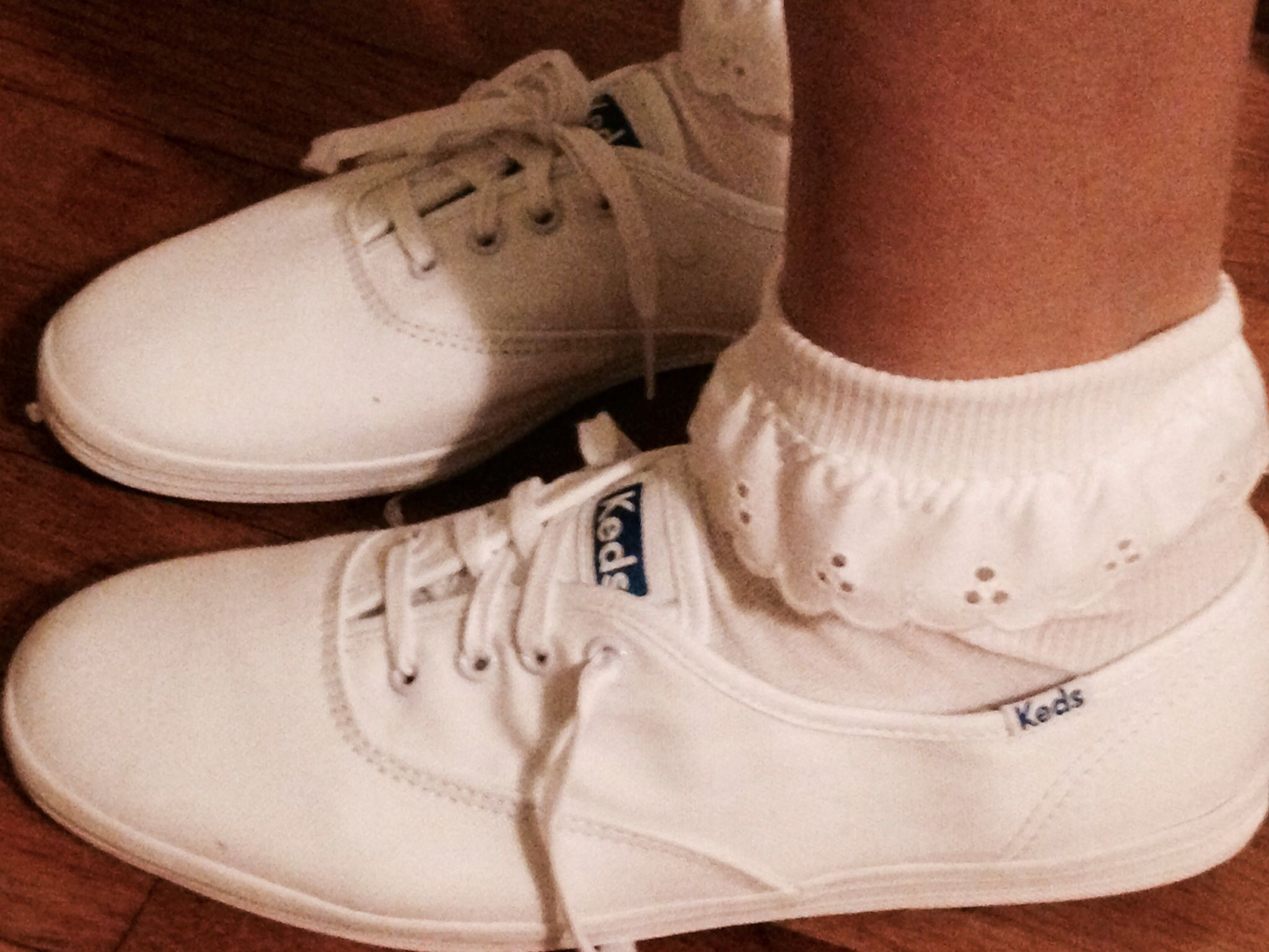 919c94f91405 Keds and lace socks