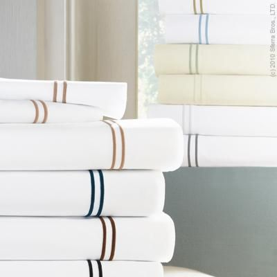 Grande Hotel Percale Bed Linens #whiteembroidery
