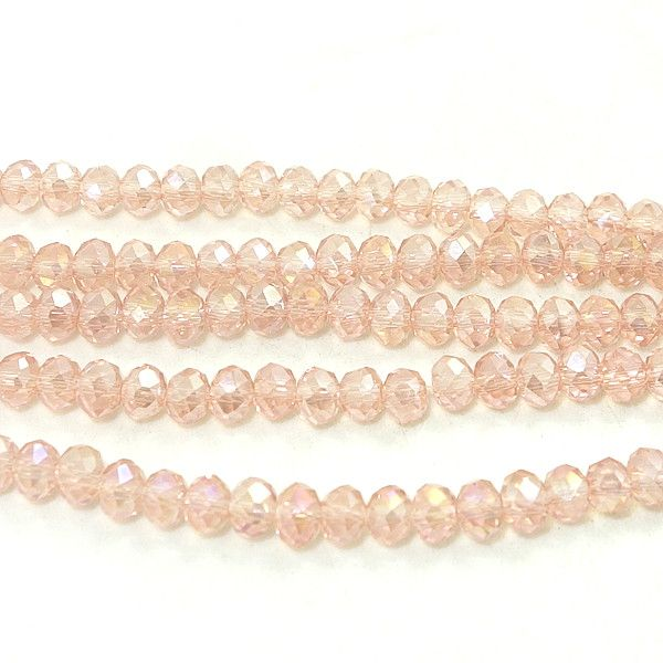 200pcs 4x3mm Rondelle Faceted Crystal Glass Spacer Loose Beads Jewelery Findings