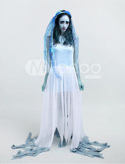 ghost bride polyester scary halloween costume milanoo costume halloween