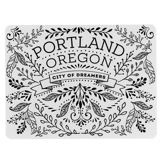 #Portland #Postcards #Vintage #Floral #Flowers by @TimDegner #letterpress #print #design #PDX