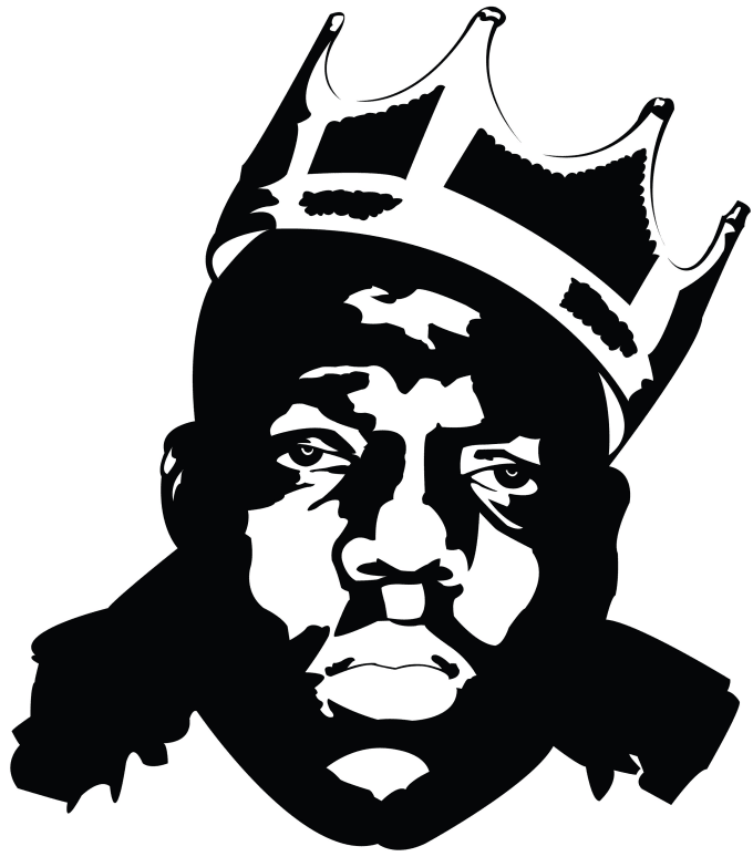 Bappi420 I Will Black And White Illustration Within 24hrs For 15 On Fiverr Com Biggie Smalls Art Biggie Smalls Painting Notorious Big Art