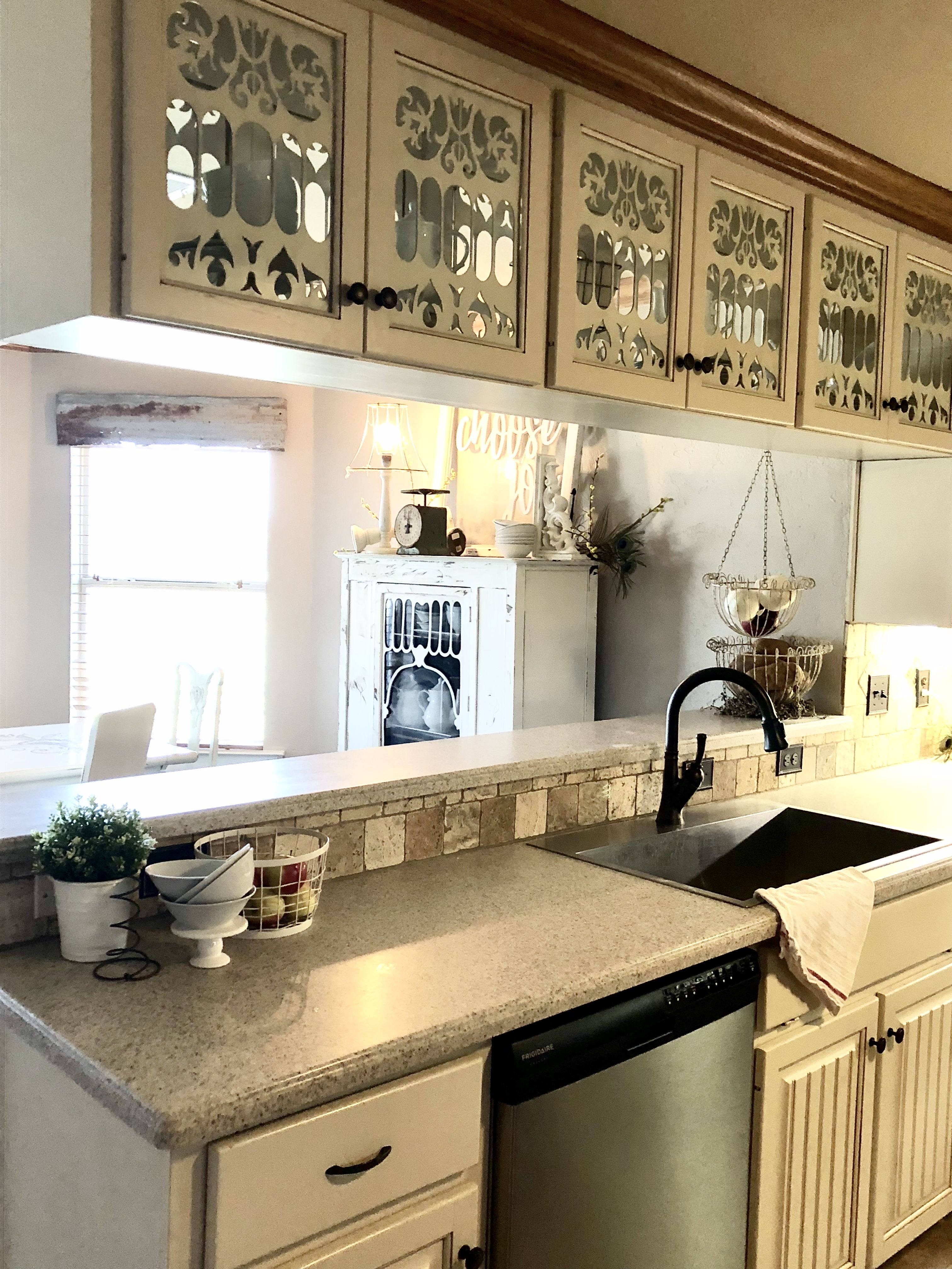 Diy Glass Kitchen Cabinets Wood Cutout For Glass Cabinets White Farmhouse Glass Kitchen Cabinets Home Decor Inspiration Kitchen