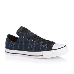Converse Chuck Taylor All Star Plaid Shoes - Nightime Navy/black/white | Free Delivery*