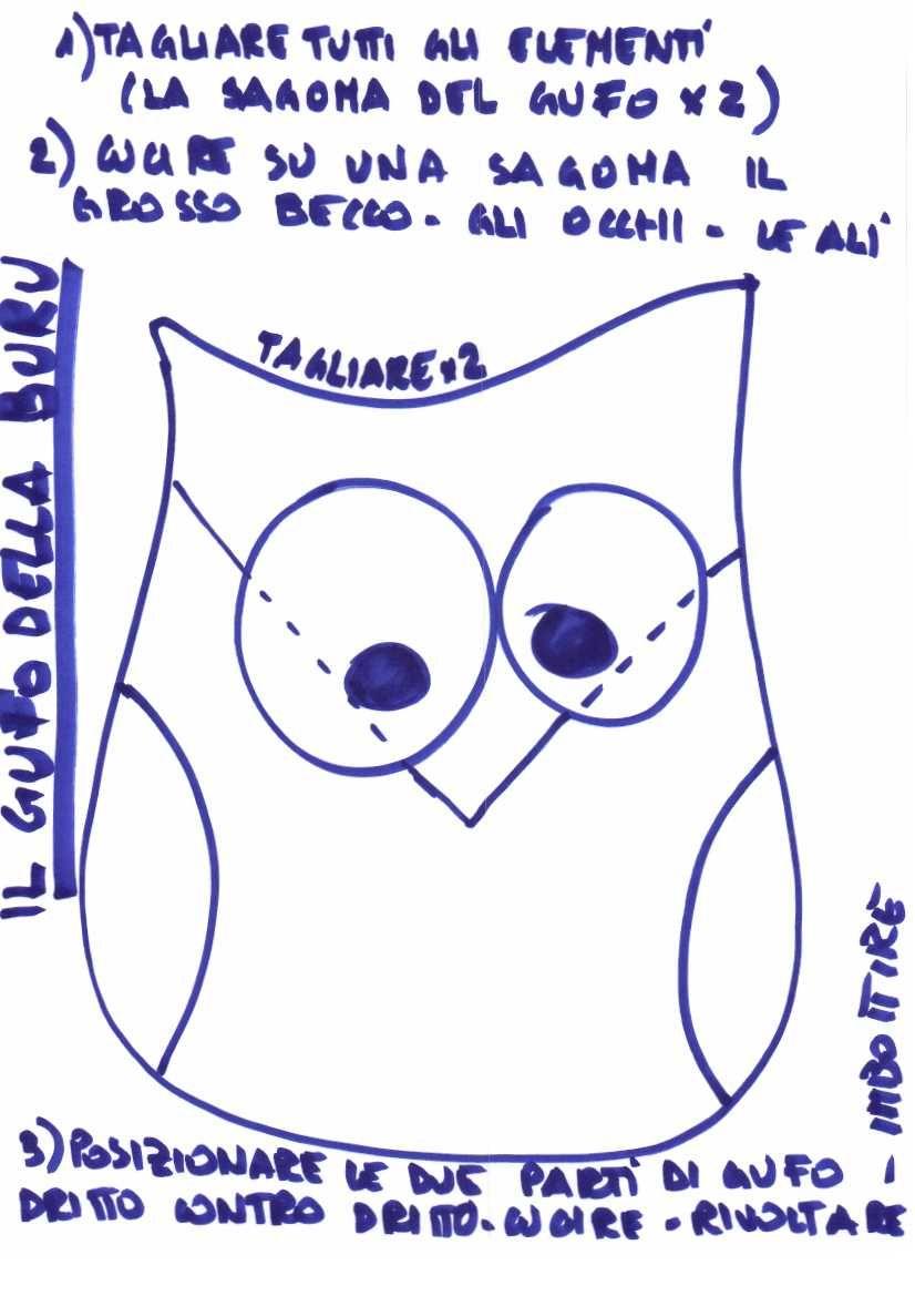 Cartamodello gufo 826 1169 cucire for Fermaporta cartamodello