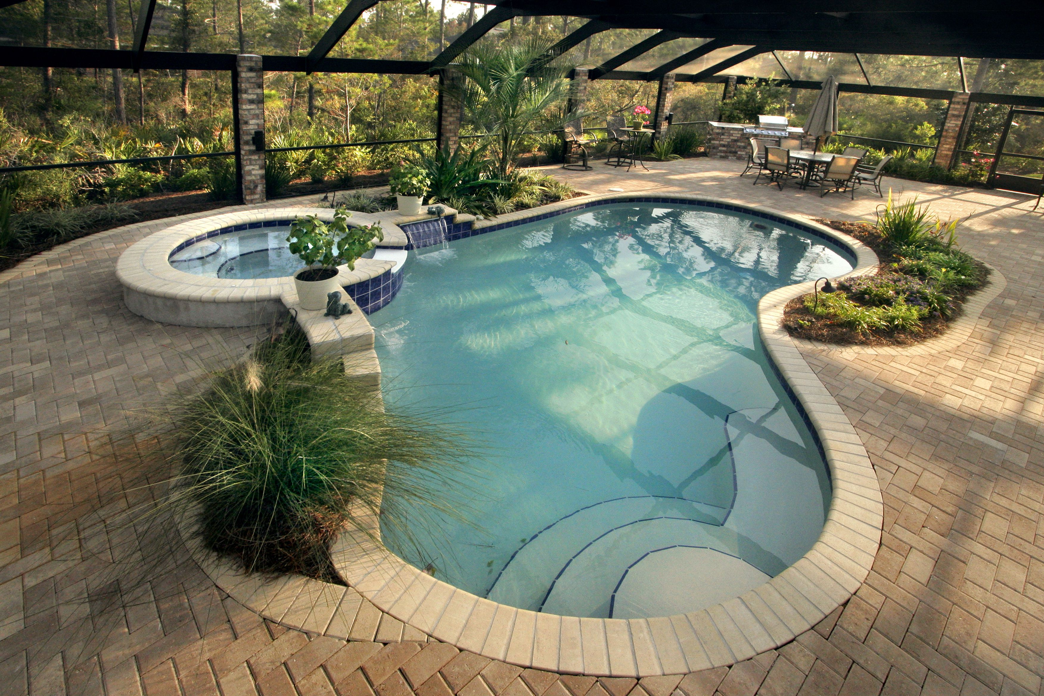 Small Outside Swimming Pools | ... Pool Design With Best Home House Chic  Small