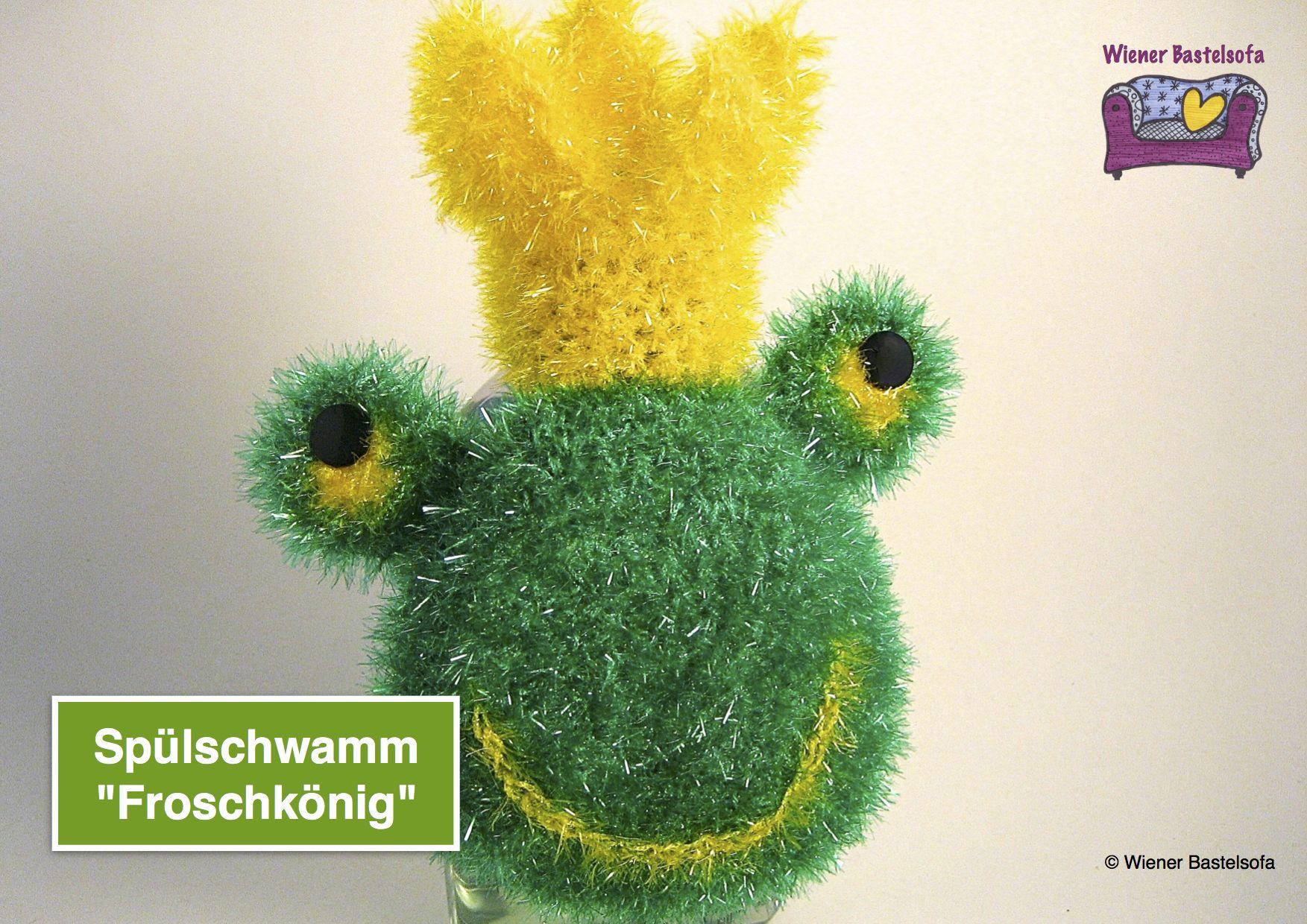Anleitung Spülschwamm Froschkönig Zum Aufhängen Auf Spüliflasche