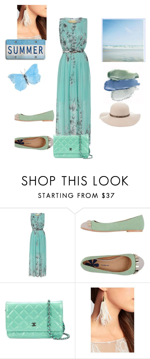 """""""Summer #1"""" by hanathom on Polyvore featuring Trendy Too, Chanel, Rosantica, Charlotte Russe and Vision"""