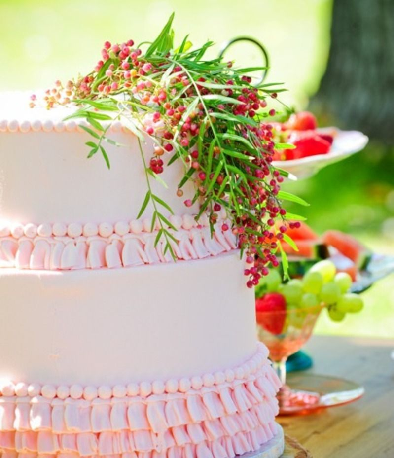 Rustic Pink Wedding Cake By Cake Works Photo By F8 Photography - Cake Works Wedding Works