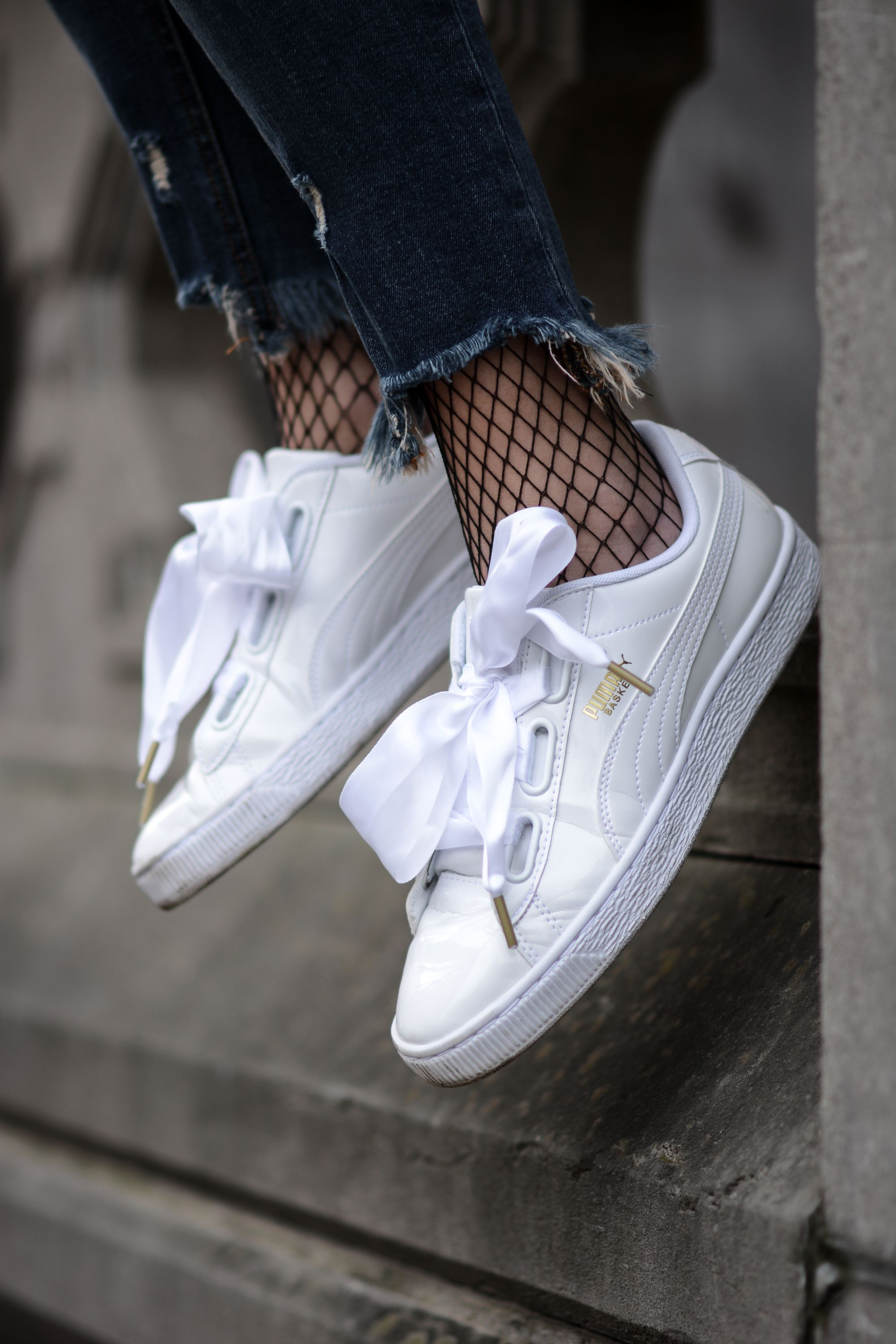 577ac424054 Puma Basket Heart Sneakers In Patent White ASOS Women Teen Trendy Metallic  Shiny  ad