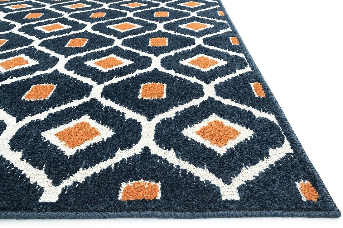 Beautiful Navy Blue Area Rug For Your Home Decor: Navy Blue And Orange Area  Rug