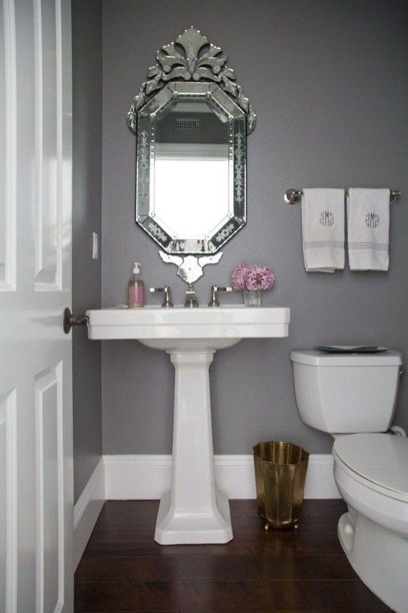 40 Most Popular Powder Room Design Ideas For 2019 Browse Powder Room Designs And Decorating Ideas Powder Room Decor Grey Bathroom Paint Modern Powder Rooms