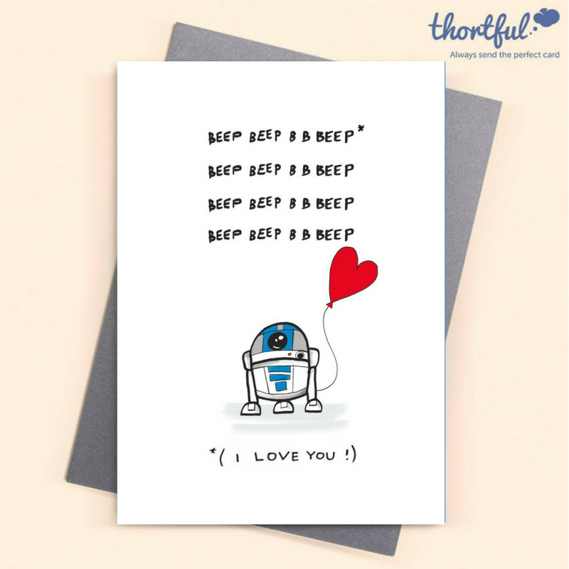 R2d2 Funny Birthday Card Anniversary Card Star Wars Birthday Cards Star Wars Valentines Funny Birthday Cards Funny Anniversary Cards