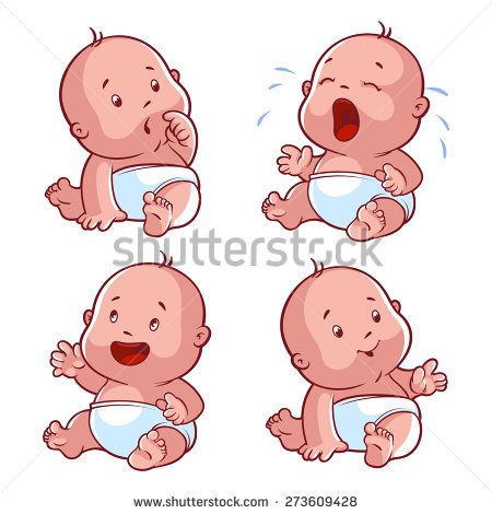Stock Images Similar To Id 225316600 Baby Toddler Set With Happy Baby Cartoon Baby Illustration Baby Crying