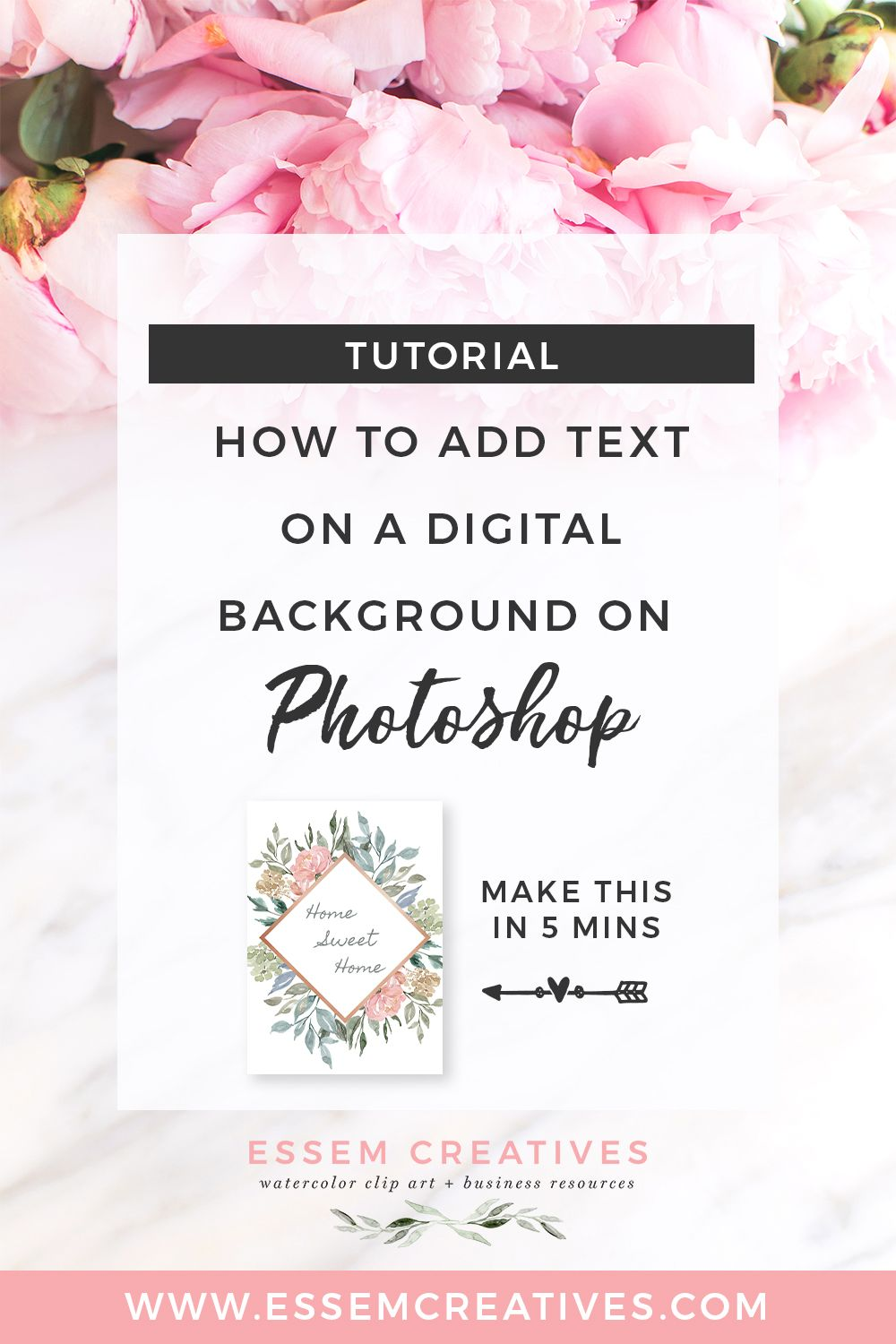 Add background to text photoshop