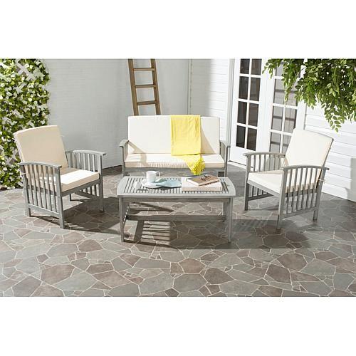 safavieh rocklin 4 piece outdoor living set outdoor living and