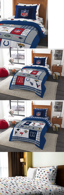 kids bedding 8pc nfl twin bedding set afc vs nfc comforter sham multiple football team
