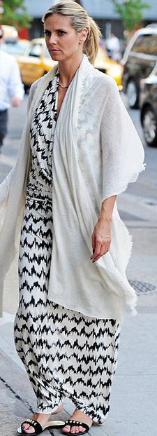 Tart black and white maxi dress