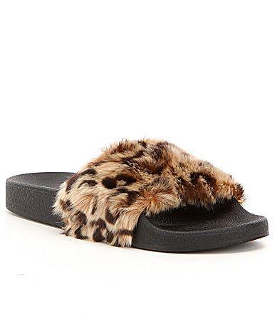 Steve Madden Softey Faux Fur Leopard