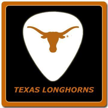 play with pride with these awesome university of texas longhorns guitar picks musicians guitar. Black Bedroom Furniture Sets. Home Design Ideas
