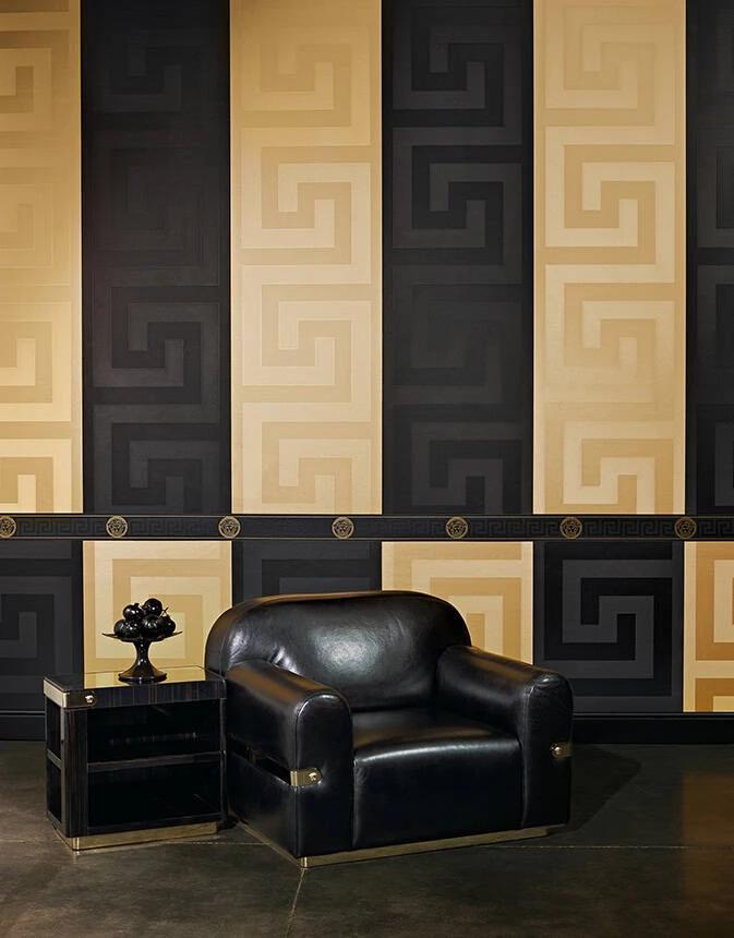 Versace Greek Key Antique Gold Versace home, Versace