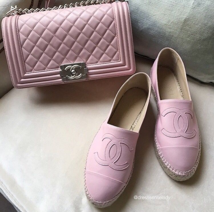 be939ac3c1a Pink chanel spadrile