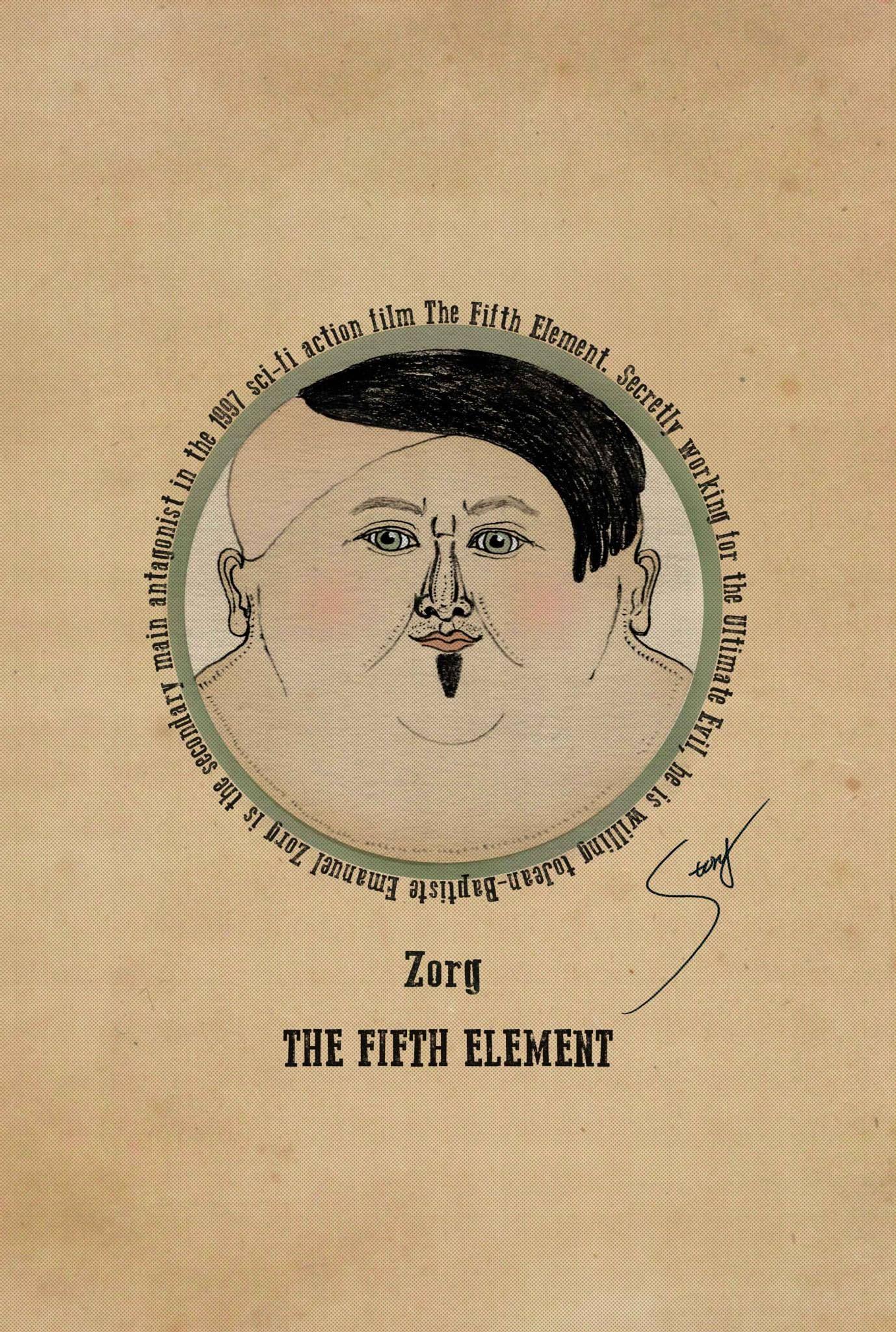 可愛的大壞蛋 | Poster. Fifth element. Illustration