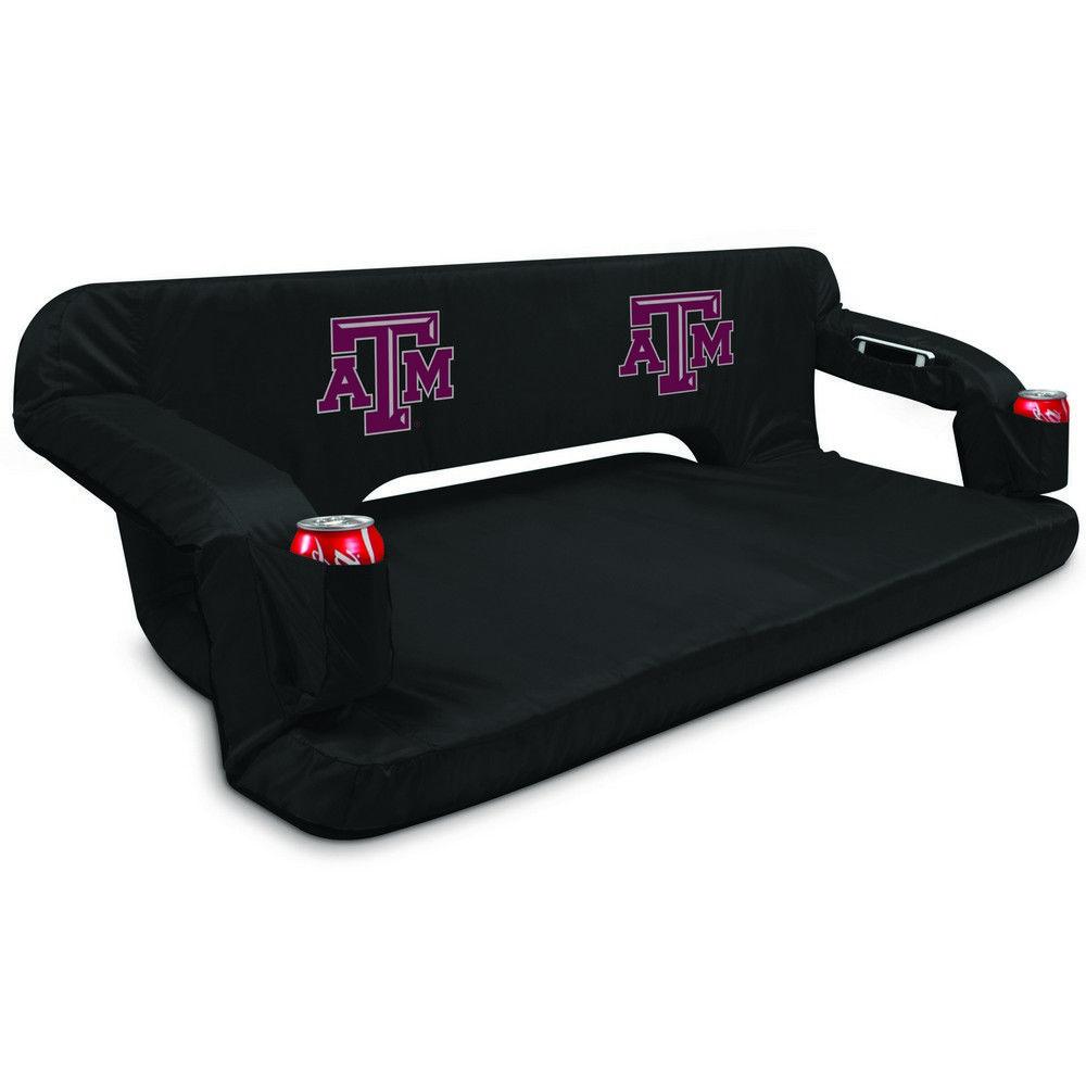 Texas A & M Aggies Reflex Travel Couch Black FREE