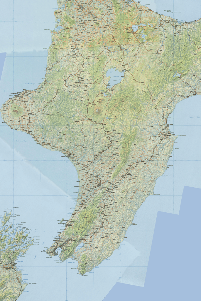 New Zealand Topographic Map.Drillable Topographic Maps Of New Zealand Koru And All That Kiwi