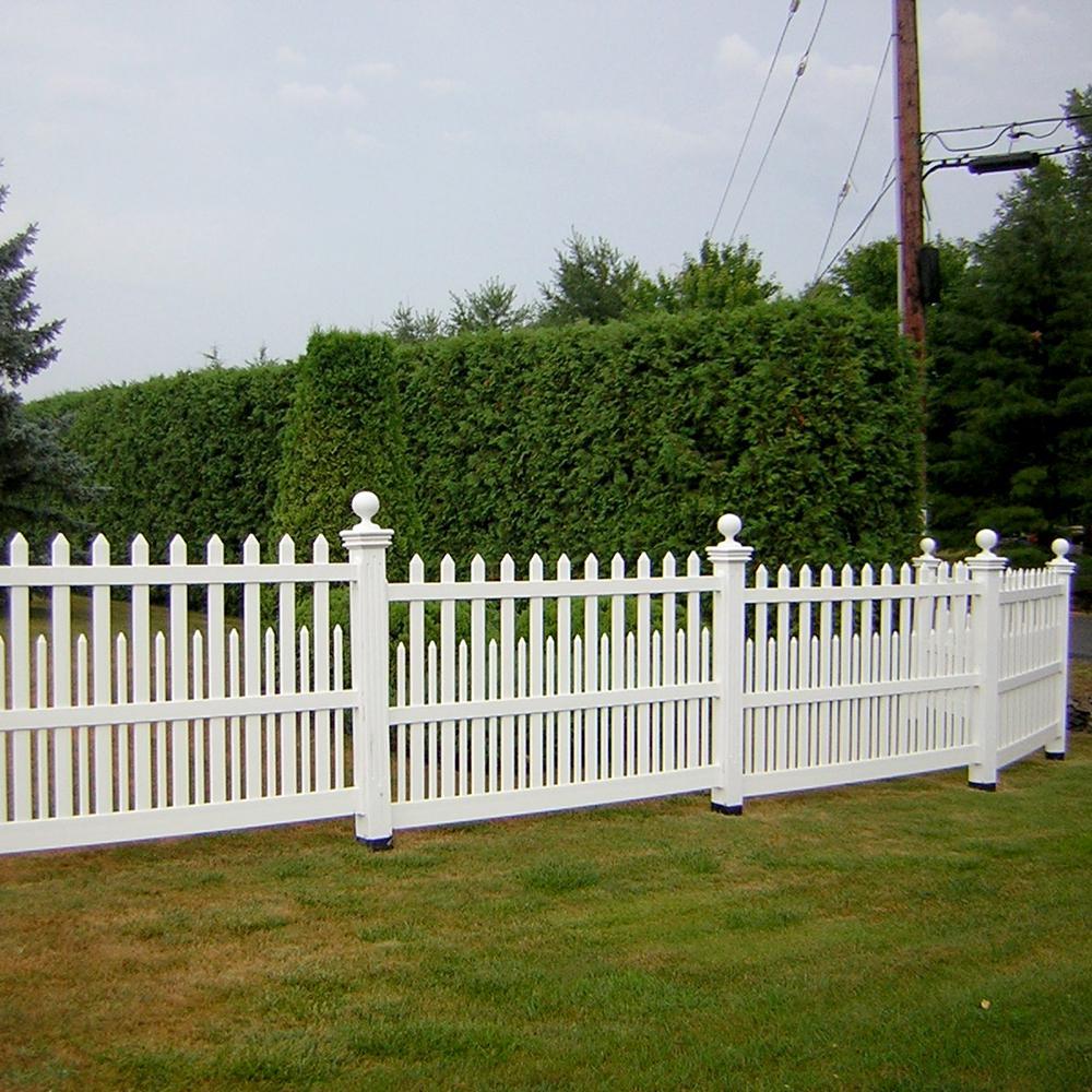 Weatherables Ashville 5 Ft H X 6 Ft W White Vinyl Picket Fence Panel Kit Pwpi 3raltnr 5x6 The Home Depot Picket Fence Panels Picket Fence Fence Panels