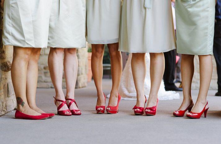 Czerwone Buty Do Slubu Szukaj W Google Bridesmaid Shoes Red Wedding Shoes Mismatched Bridesmaids