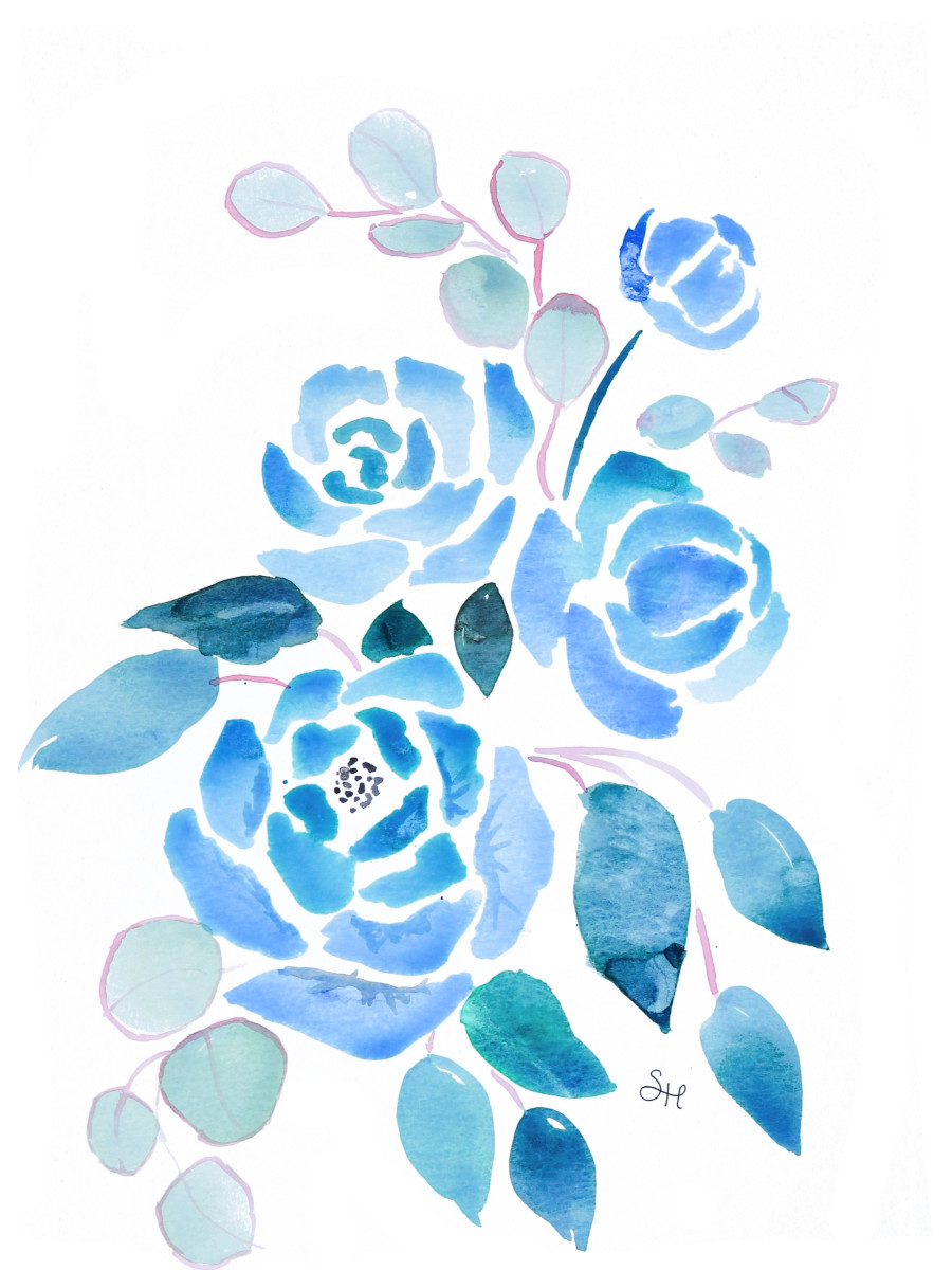 watercolor blue peonies - Google Search #bluepeonies watercolor blue peonies - Google Search #bluepeonies
