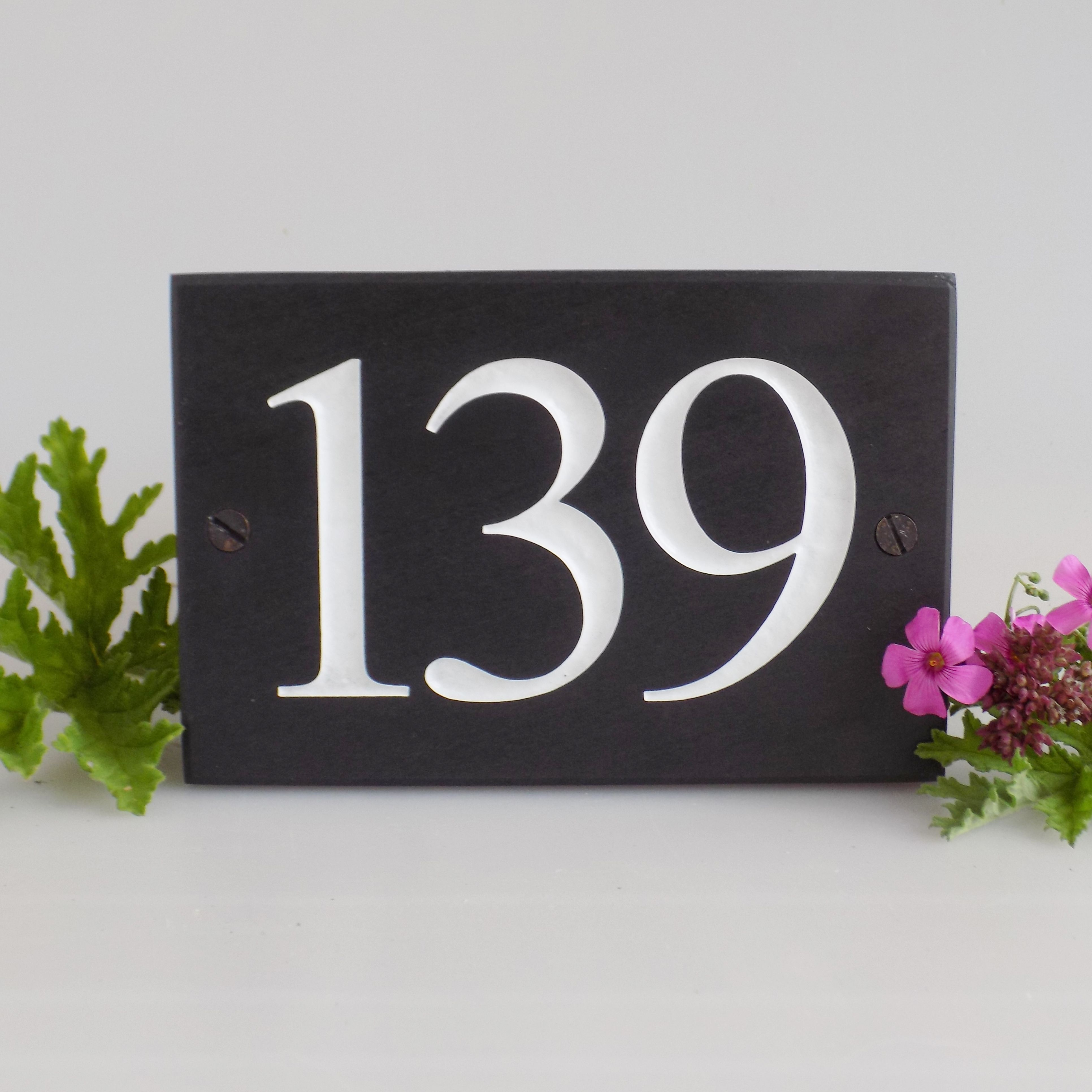 Personalised Slate Number Signs Small Letters Slate The Slate