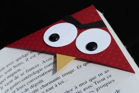 La version fille de l 39 angry bird un marque page en coin les 2 mains gauches - Angry birds noel ...