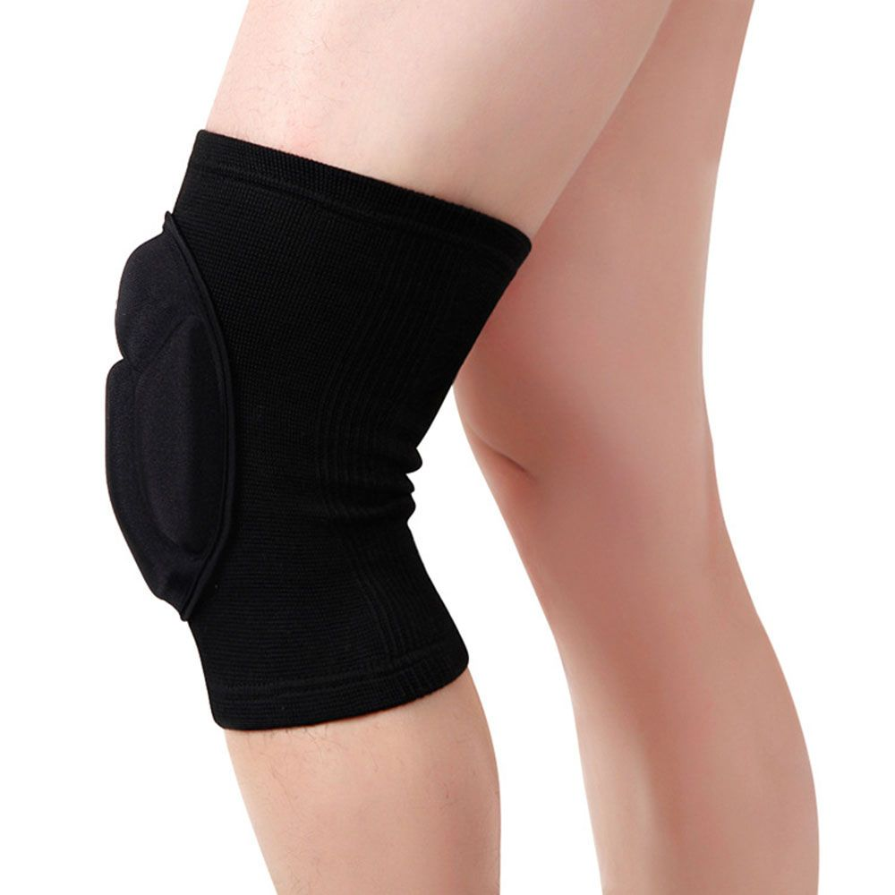 Professional Padded Knee Brace Compression Knee Sleeve Protector Knee Pads Volleyball Tenis Basketball Knee Br With Images Sports Cycle Leg Sleeves Knee Compression Sleeve