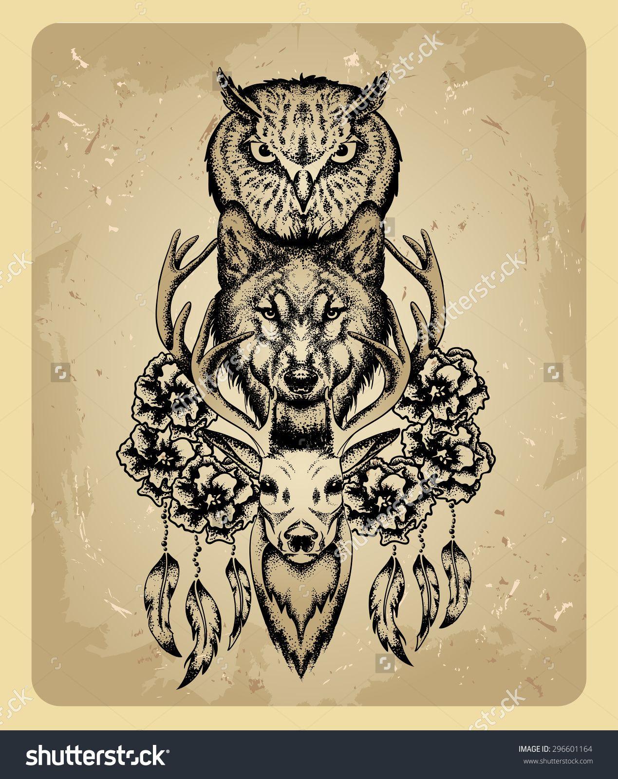 Pin By Lesya Kostruba On Tattoo Totem Tattoo Animal Tattoos Deer Tattoo