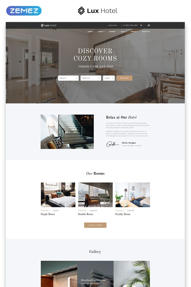 Hotel Multipage HTML5 Template