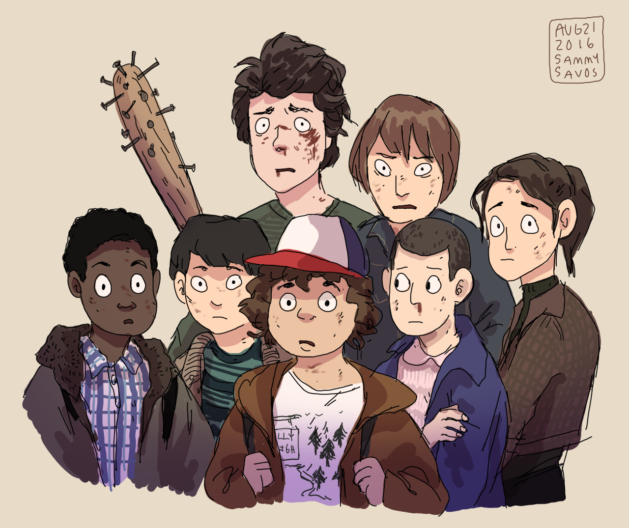 Stranger Kids Stranger Things Art By Hamotzi Featuring Lucas Sinclair Mike Wheeler Dus Stranger Things Art Stranger Things Fanart Stranger Things Funny