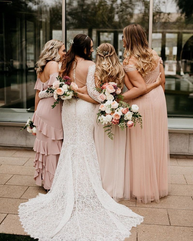 57 Pink Bridesmaid Dresses different shades of pink