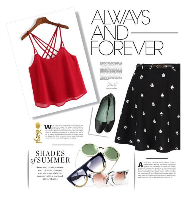 """0ö0"" by ari-ari-xoxo ❤ liked on Polyvore featuring Yumi, Yves Saint Laurent, skirt, pattern, styling and PVNewArrivals"