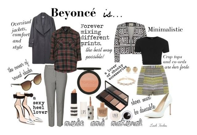 """""""Beyoncé is..."""" by leahforbes ❤ liked on Polyvore featuring Topshop, River Island, Carven and Gianvito Rossi"""