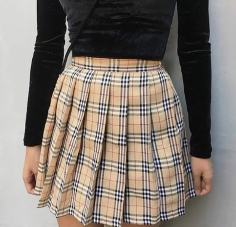 181a3b569551 CHECK PLEATED SKIRT sold by OCEAN KAWAII. Shop more products from OCEAN  KAWAII on Storenvy