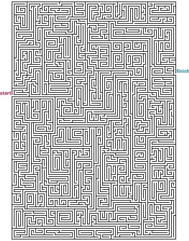 level 5 von 5 schwer alter ab 12 jahre mazes to print mega rectangle mazes talent. Black Bedroom Furniture Sets. Home Design Ideas