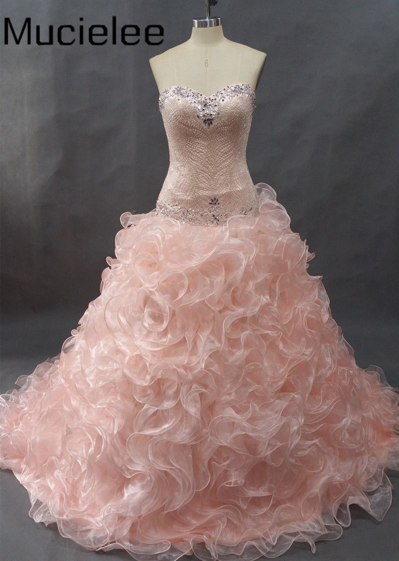 Click to buy ucuc crystal beading cheap quinceanera dresses debutante
