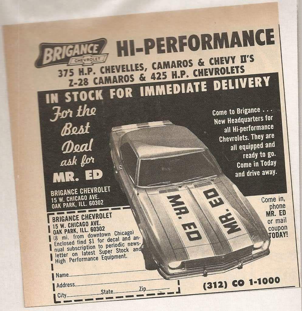 1969 Brigance Chevrolet Dealership Oak Park Illinois Chevrolet