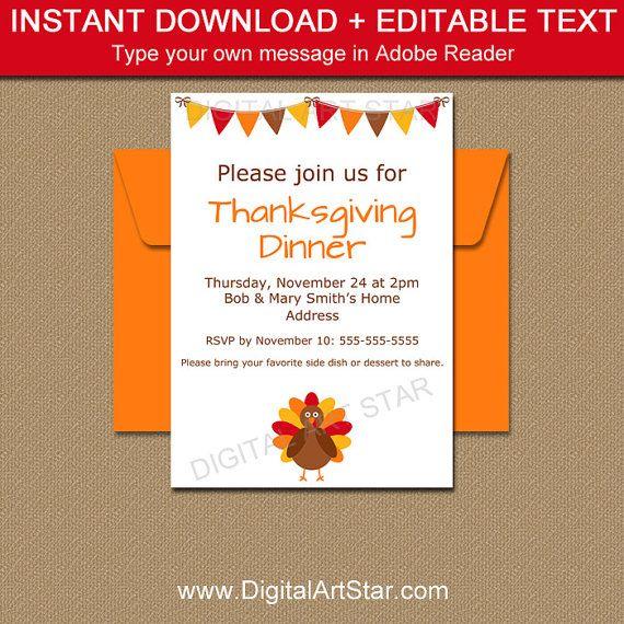printable thanksgiving invite thanksgiving invitation and thanksgiving