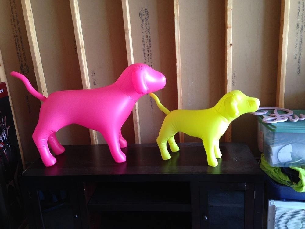 RARE! Victoria's Secret Inflatable Dogs and Hearts