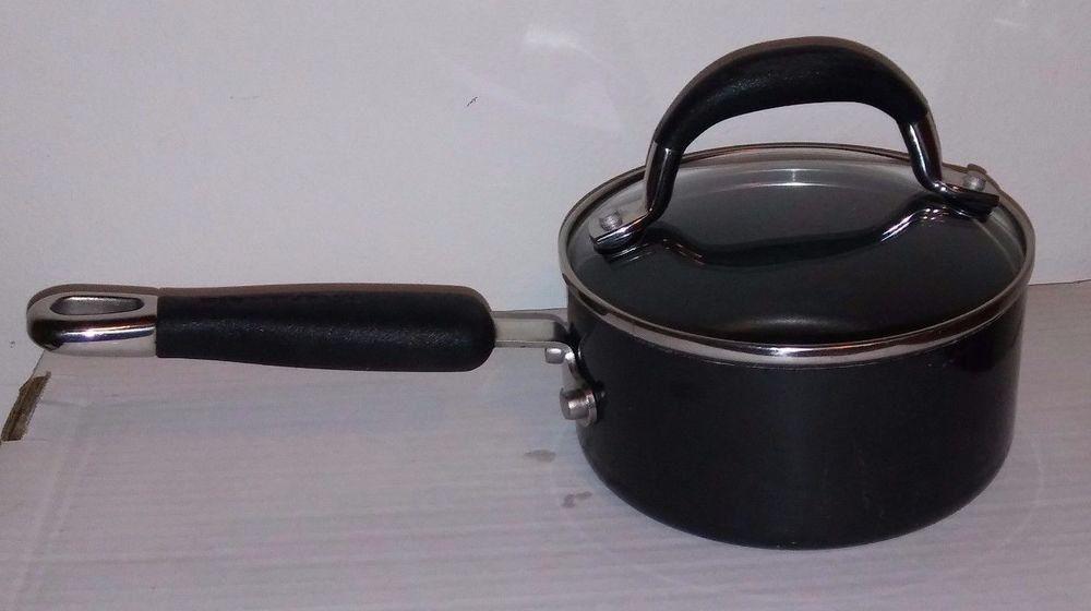 Kitchenaid Hard Base 1 Quart Nonstick Sauce Pan With Lid Ceramic Black Kitchenaid Saucepan Nonstick Pan