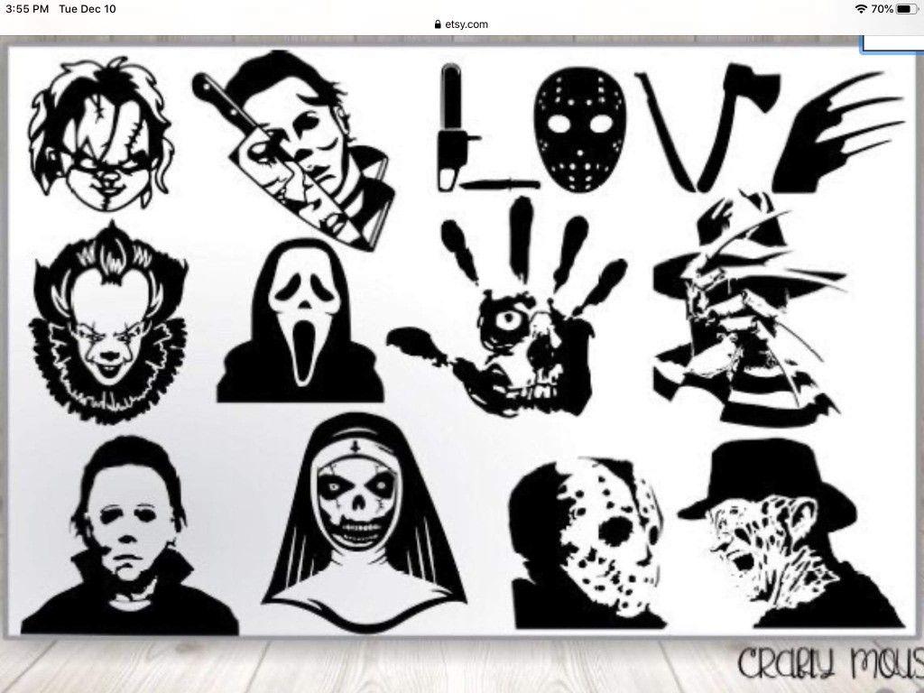 Pin By Crickett Helt On Cricut Horror Movie Tattoos Movie Tattoos Horror Tattoo [ 768 x 1024 Pixel ]
