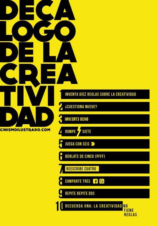 10 reglas para ser Creativo